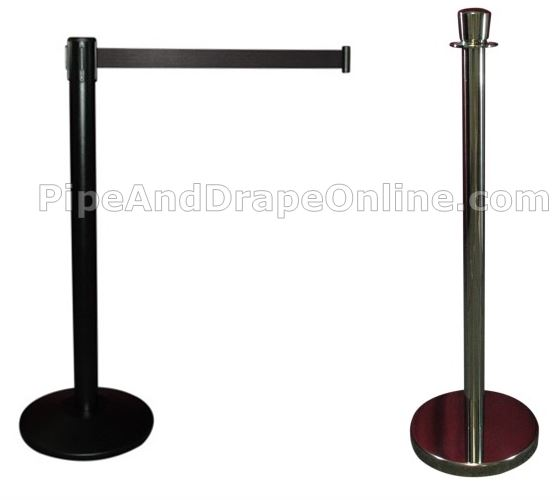 Retractable Belt and Lobby Rope Barrier Stanchions
