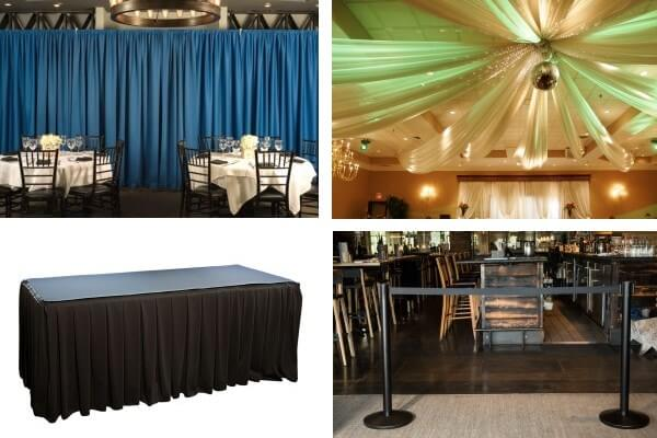 Create an amazing event with pipe and drape and event decor products from PipeAndDrapeOnline.com