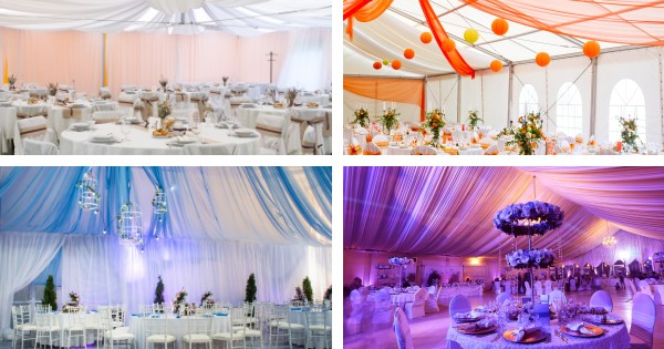 Ceiling Draping Styles