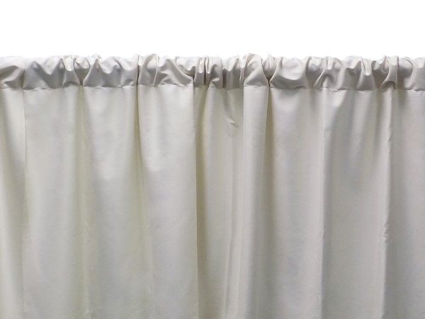 A closeup picture of pleated pipe & drape curtains