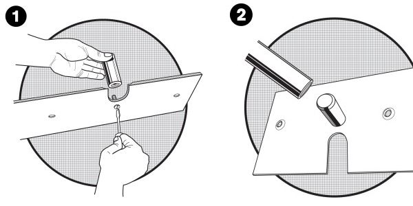 There are only 2 steps for using a slip-fit Upright