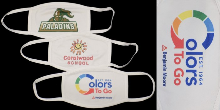 Show off your branding while keeping safe with our printed face masks.