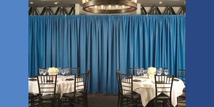 Pipe and Drape has long been an inexpensive way to divide space and create new areas within a room.