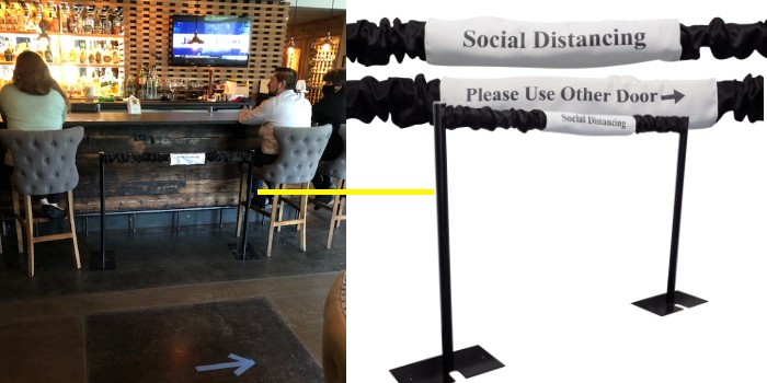 Create pathways, guide guests to entrances and exits, and ensure 6 feet of social distancing spacing with our custom stanchions.