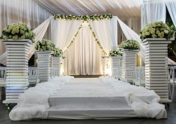 Pipes and drapes for weddings