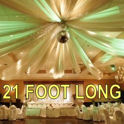 21 Foot Long Ceiling Drapes