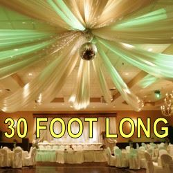 30 Foot Long Ceiling Drapes