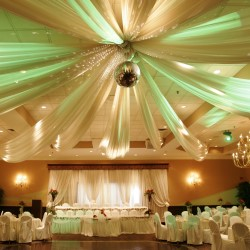 Sheer Ceiling Drape Swags