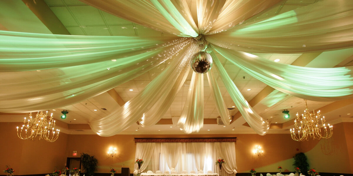 Elegant Ceiling Drape Kits for Weddings and Special Events