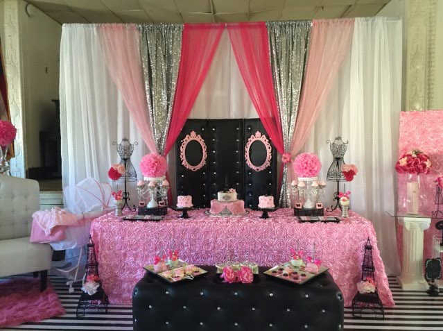 Baby shower with a Paris theme