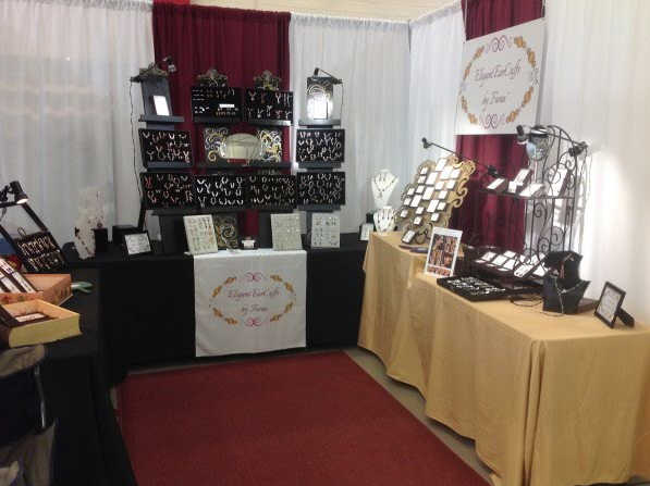 Tradeshow booth with pipe and drape