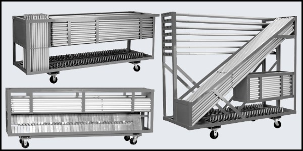Storage and transport carts for all of your church backdrops. These carts make set up and take down faster and easier!