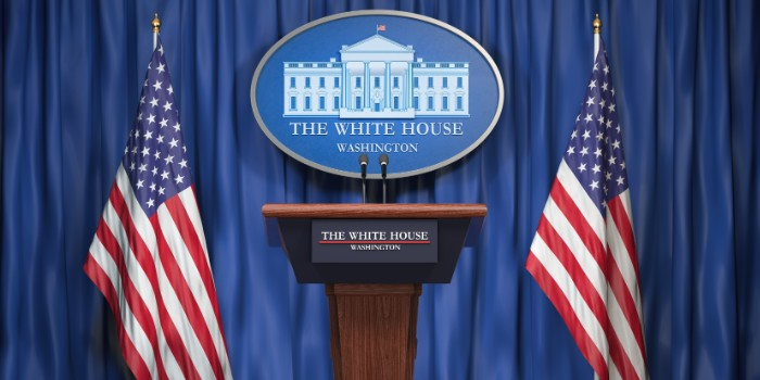 A pipe and drape backdrop gives more professionalism to media appearances, political speeches, press releases, and other important notifications.