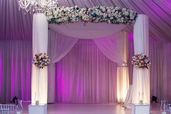 Wedding canopies and chuppahs create a breathtaking setting for the ceremony!