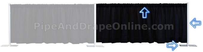 Pipe and Drape Connecting Backdrop (Extender)