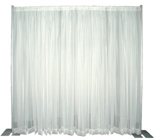 Sheer Voile Pipe And Drape Backdrop