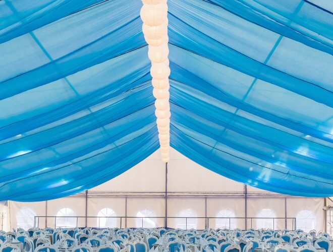 Wedding Ceiling Swag 12 Panels Of 40 Ft Long Sheer Swags