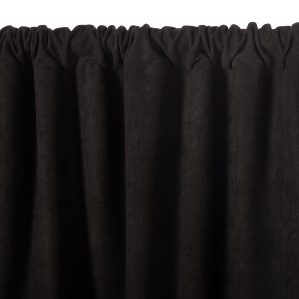 24 oz Velour drapes provide both opacity and sound absorption