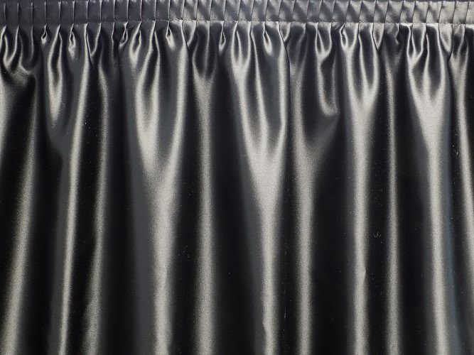 incredible Satin Table Skirt Part - 1: Pipe and Drape Online