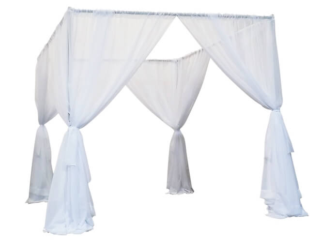 pipe and drape wedding canopy for marriage ceremonies