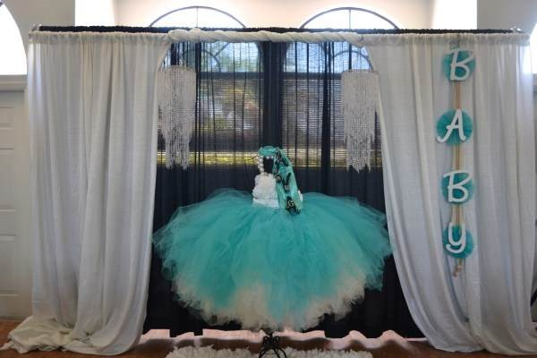 Events and Then Some - Stage area for a Tiffany-inspired Baby Christening - WEB