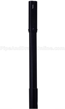 7-12 Foot Black Adjustable Height Telescoping Upright - 2'' Diameter