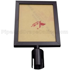 Sign Frame for Black Retractable Belt Stanchion