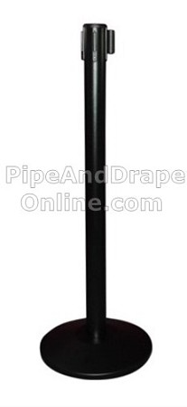 Black Retractable Belt Stanchion