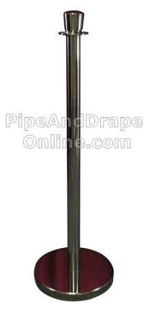 Chrome Lobby Stanchion Post and Base