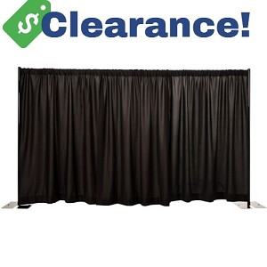 CLEARANCE: 8x10 Premier Package with Black Drapes