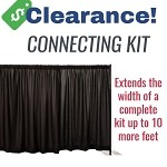 CLEARANCE: 8 Foot Tall Premier Connecting Backdrop with Black Drapes