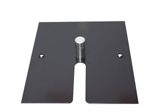 "16"" x 14"" Black Powder Slip Fit Base with Pin - 10 lbs"