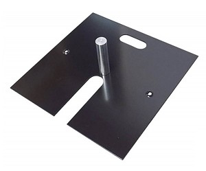 "18"" x 18"" Black Powder Slip Fit Base with Pin - 17 lbs"