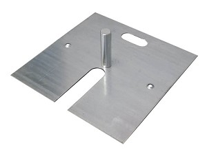 "18"" x 18"" Slip Fit Base with Pin - 17 lbs"