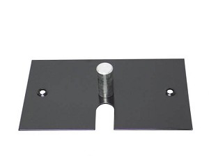 "8"" x 14"" Black Powder Slip Fit Base with Pin - 6 lbs"