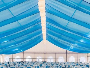 30 Foot Long Sheer Voile Ceiling Drape (12 Panels)