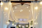 21 Foot Long Sheer Voile Ceiling Drape (4 Panels)