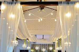 40 Foot Long Sheer Voile Ceiling Drape (4 Panels)