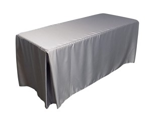 Poly Satin Fitted Tablecloth