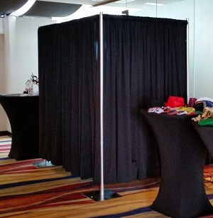 8 Foot Tall Photo Booth Kit with Premier Drapes