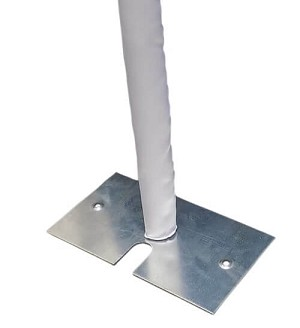 "Poly Satin Pole Covers for 2"" Diameter Uprights"