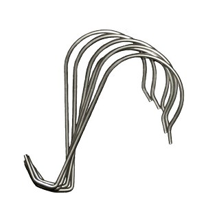 "Metal ""S"" Sign Hooks - Box of 100"