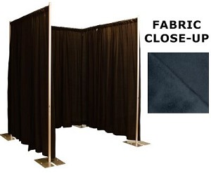 8 Foot Tall Changing Room / Privacy Booth Kit with Commando Drapes