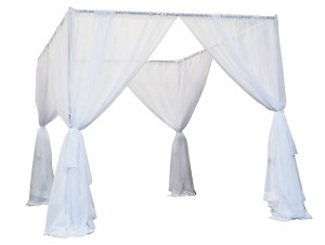 8 Foot Tall Wedding Canopy (Chuppah) with Sheer Voile Drapes